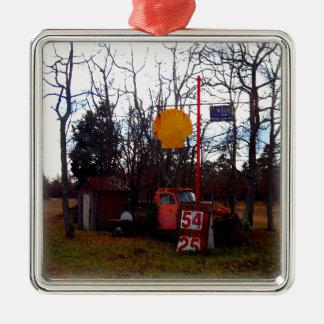 El viejo vintage de la dependencia coge escena del ornaments para arbol de navidad