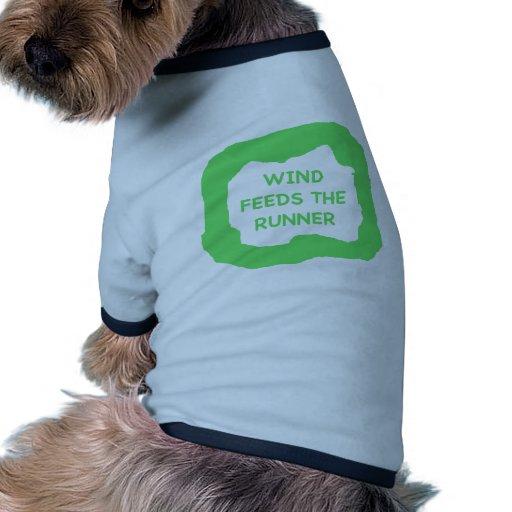 El viento alimenta el corredor .png camisetas mascota