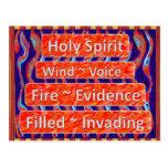El viento del ~ del ` del Espíritu Santo, fuego, l Postales