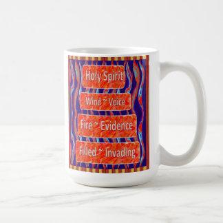 El viento del ~ del Espíritu Santo, fuego, llenó Taza De Café