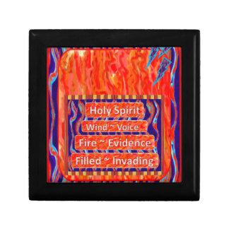 El viento del Espíritu Santo, fuego, llenó los joy Caja De Recuerdo