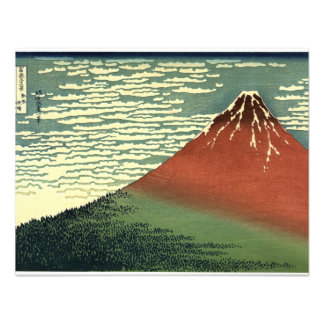 El viento del sur de Hokusai cielo claro o Fuji Anuncio Personalizado