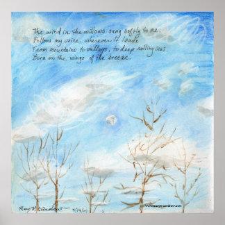 """""""El viento en los sauces"""" versifica en la pintura Poster"""