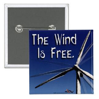 El viento es botón libre pin cuadrado
