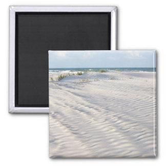 El viento graba al agua fuerte el imán de la arena