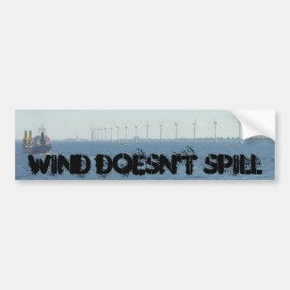 El viento no se derrama pegatina para auto