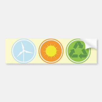 El viento solar recicla a pegatinas para el parach etiqueta de parachoque