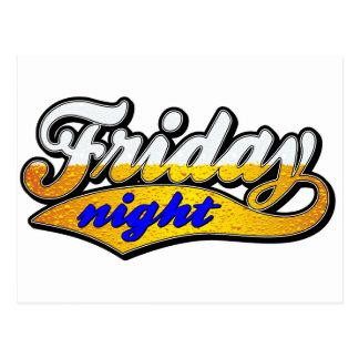 El viernes por la noche cerveza tarjeta postal