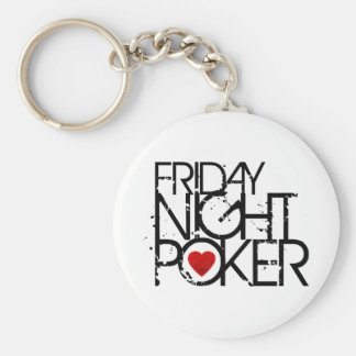 El viernes por la noche póker llavero redondo tipo pin