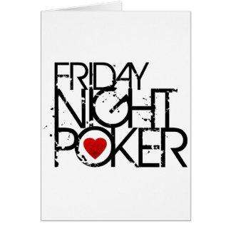 El viernes por la noche póker felicitación