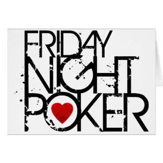 El viernes por la noche póker felicitacion