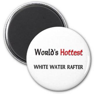 El viga más caliente del agua blanca del mundo imán redondo 5 cm