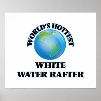 El viga más caliente del agua blanca del mundo póster