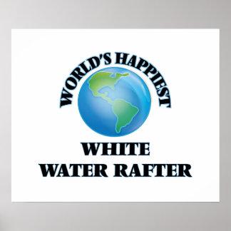 El viga más feliz del agua blanca del mundo póster