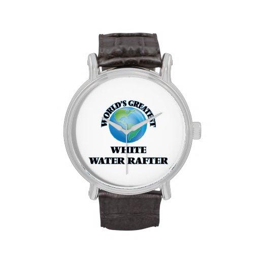 El viga más grande del agua blanca del mundo reloj de mano