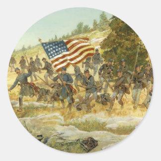 El vigésimo Maine de H. Charles McBarron Pegatina