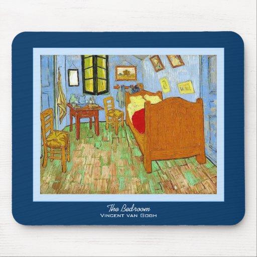 El ~ Vincent van Gogh del dormitorio Tapete De Ratón