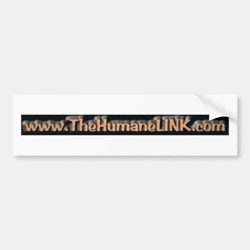 El vínculo humano etiqueta de parachoque