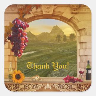 El viñedo adaptable (boda) le agradece pegatina