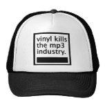 el vinilo mata mp3 a la industria - vintage gorras