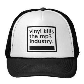 el vinilo mata mp3 a la industria - vintage gorro