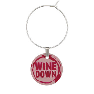 """El """"vino abajo"""" wine etiqueta del sayin identificadores de copas"""