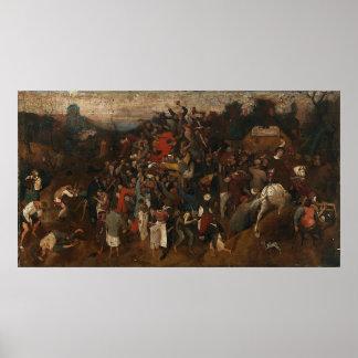 El vino de Pieter Bruegel del día de San Martín Póster