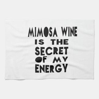 El vino del Mimosa es el secreto de mi energía Toallas