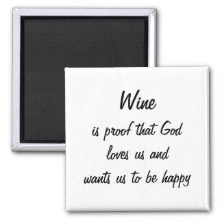 El vino divertido del imán del refrigerador es pru