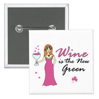 """El """"vino es el cuadrado del día del nuevo"""" St Patr Pins"""