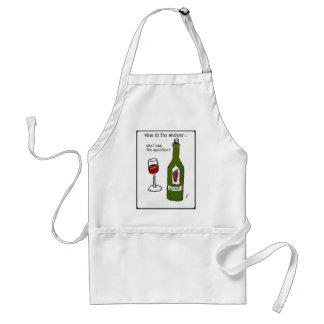 ¿El vino es la respuesta… cuál era la pregunta? Delantal
