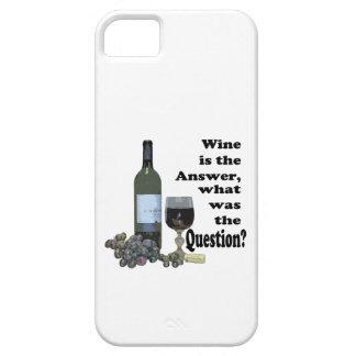 ¿El vino es la respuesta, cuál era la pregunta? iPhone 5 Funda
