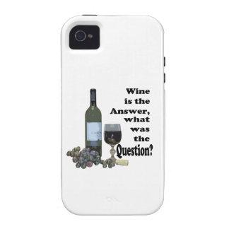 ¿El vino es la respuesta, cuál era la pregunta? iPhone 4 Funda