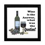 ¿El vino es la respuesta, cuál era la pregunta? Gi Cajas De Regalo