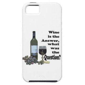¿El vino es la respuesta, cuál era la pregunta?  iPhone 5 Carcasas
