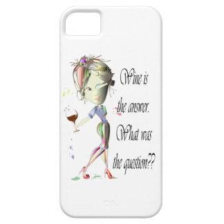 ¿El vino es la respuesta - cuál era la pregunta?? iPhone 5 Carcasas