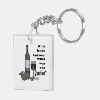 ¿El vino es la respuesta cuál era la pregunta? Llaveros