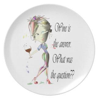 ¿El vino es la respuesta - cuál era la pregunta?? Plato De Comida