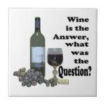 ¿El vino es la respuesta, cuál era la pregunta?  R Azulejos Cerámicos