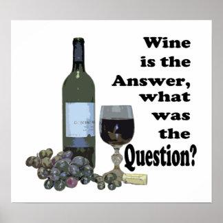 ¿El vino es la respuesta, cuál era la pregunta? Re Póster