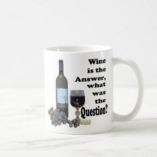 ¿El vino es la respuesta, cuál era la pregunta?  Taza