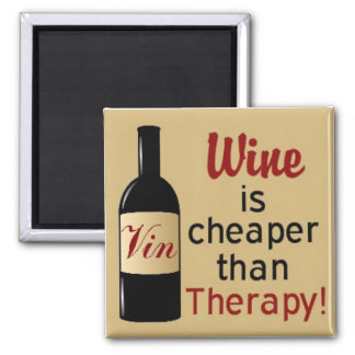 El vino es más barato que el imán cuadrado de la t