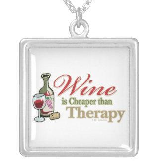 El vino es más barato que terapia colgante cuadrado