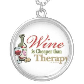 El vino es más barato que terapia colgante redondo