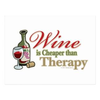 El vino es más barato que terapia postal