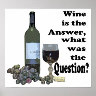¿El vino es respuesta, cuál era la pregunta?  Póster