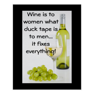 El vino fija todo posters