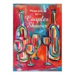 """El vino junta el fiesta de ducha del boda invitación 4.5"""" x 6.25"""""""
