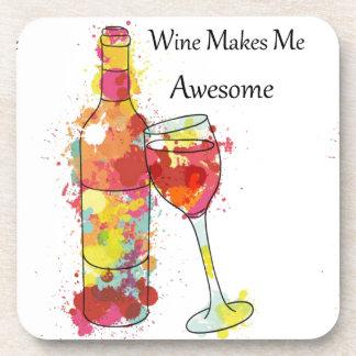 El vino me hace los prácticos de costa posavasos