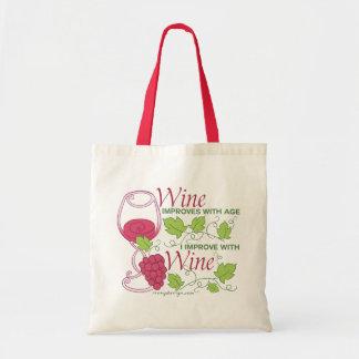 El vino mejora con edad bolsa tela barata